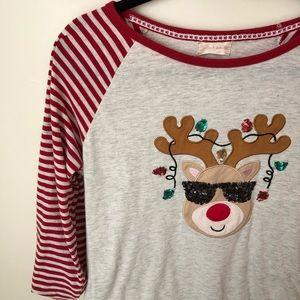Altar'd State Reindeer Christmas Top
